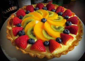 The large fruit tart- you can get creative with designs here
