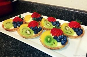 Six medium fruit tarts