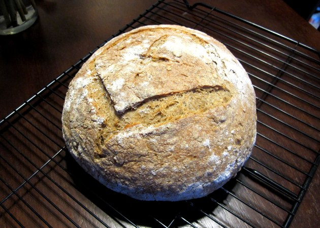 Ryce Bread - half each white rice flour and whole meal rye.