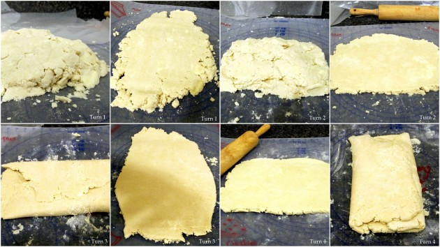 Semi Rough Puff Pastry - Turns 1 through 4