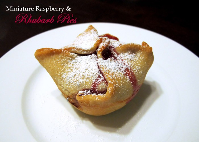 Miniature Raspberry and Rhubarb Pies