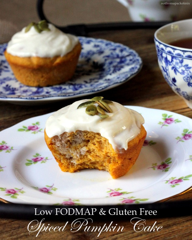 Spiced Pumpkin Cake with Maple Cream Cheese Icing - Low FODMAP, Gluten Free, Nut Free