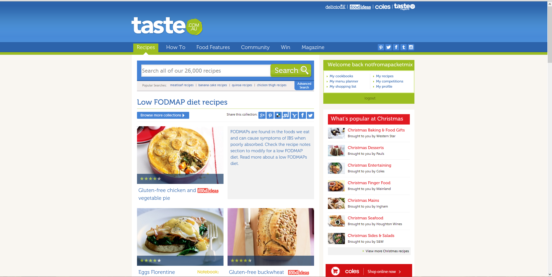 The best recipe websites ive seen so far not from a packet mix taste fodmap search forumfinder Gallery