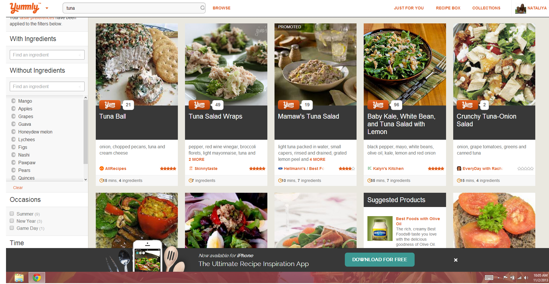 The best recipe websites ive seen so far not from a packet mix yummly search forumfinder Images