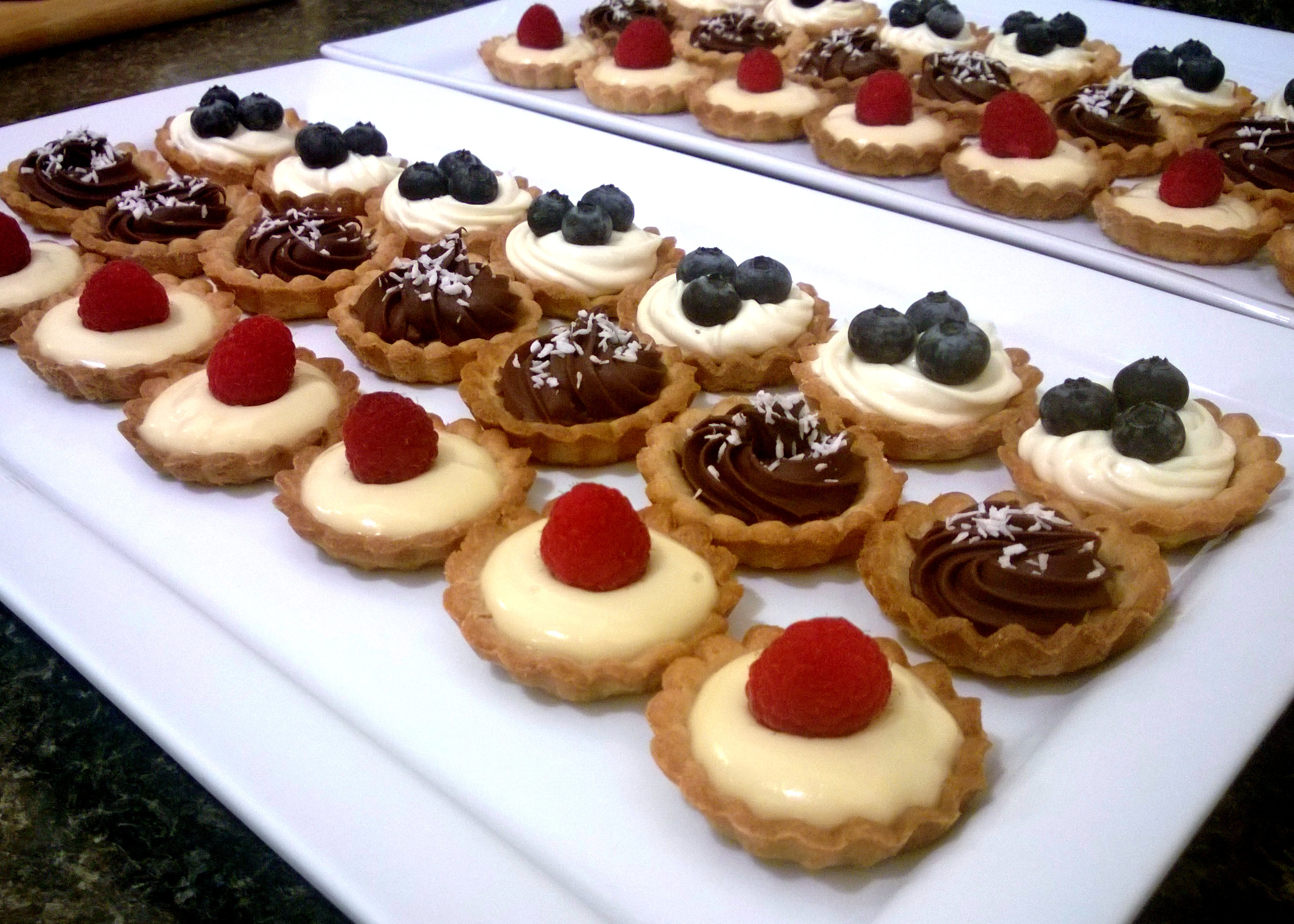 Tart not from a packet mix for Pastry canape fillings