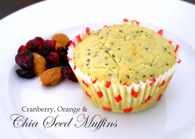 Cranberry, Orange & Chia Seed Muffins