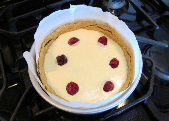Variation - baked with fruit on the crust