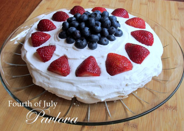 Fourth of July Pavlova