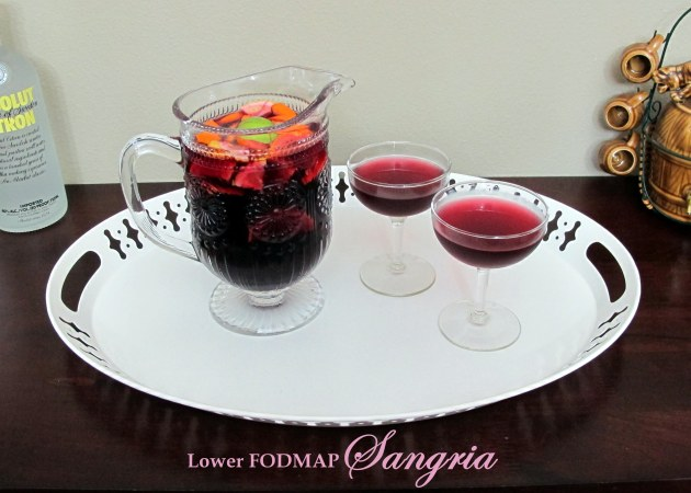 Lower FODMAP Sangria - Not From A Packet Mix