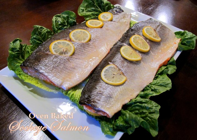 Oven Baked Sockeye Salmon - Low FODMAP, Fructose Friendly, Gluten Free and Paleo