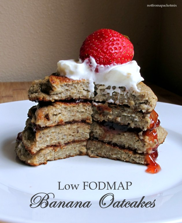 Low FODMAP Banana Oatcakes - fructose friendly, gluten free, dairy free, no added sugar, vegetarian