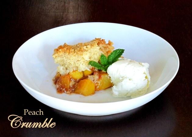 Peach Crumble - Low FODMAP, Fructose Friendly, Gluten Free & Vegan