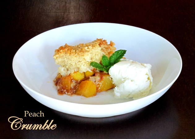 Peach Crumble - Low FODMAP, Fructose Friendly, Gluten Free & Vegan