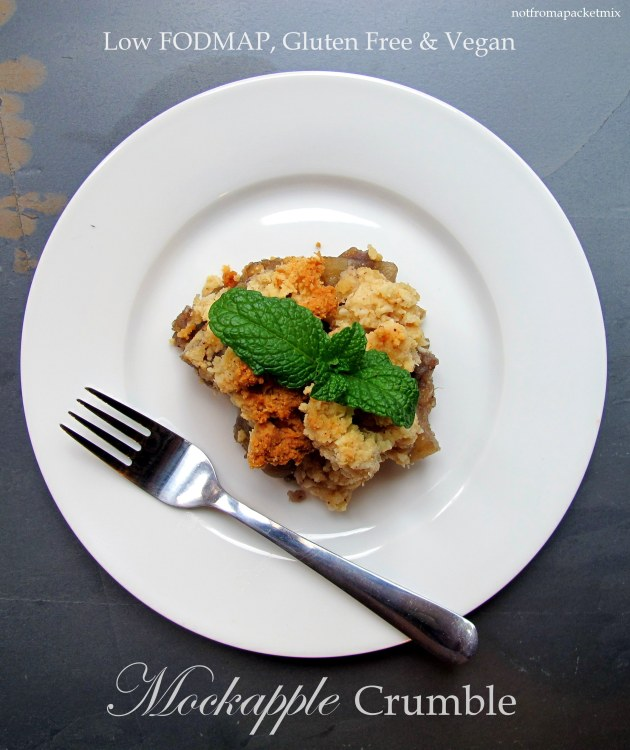 Mockapple Crumble - Low FODMAP, Dairy Free, Gluten Free and Vegan