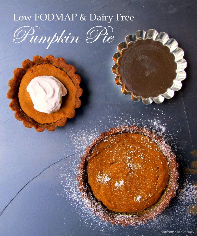 Pumpkin Pie with a Gingerbread Crust - Low FODMAP, Dairy Free, Gluten Free and No Refined Sugar