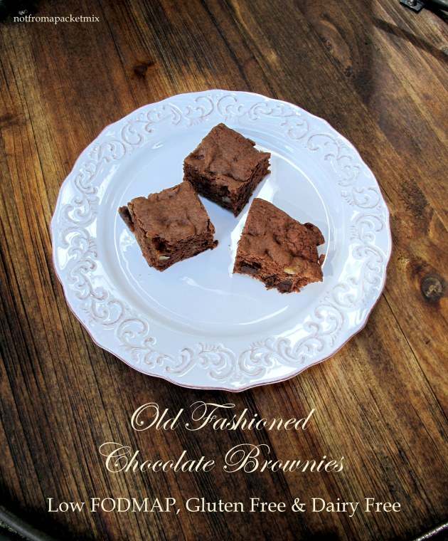Old Fashioned Chocolate Brownies - low FODMAP, gluten free, dairy free