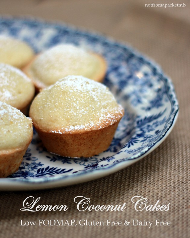 Lemon Coconut Cakes - Low FODMAP, Gluten Free & Dairy Free 1