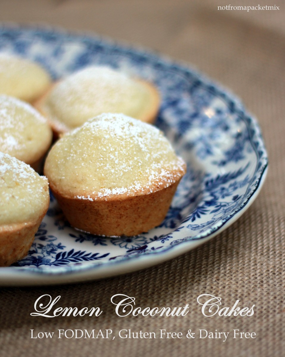 Lemon Coconut Cake - Low FODMAP, Gluten Free & Dairy Free