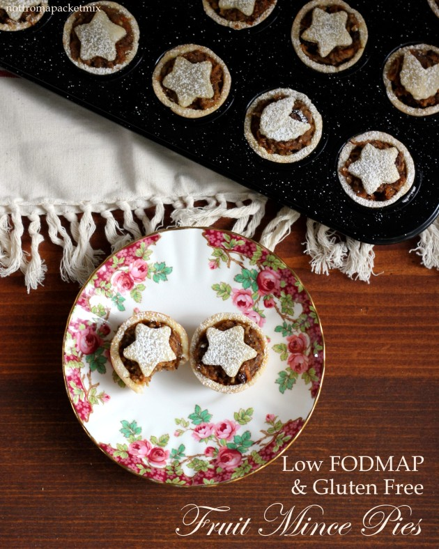 Fruit Mince Pies for Christmas - Low FODMAP & Gluten Free - by Not From A Packet Mix